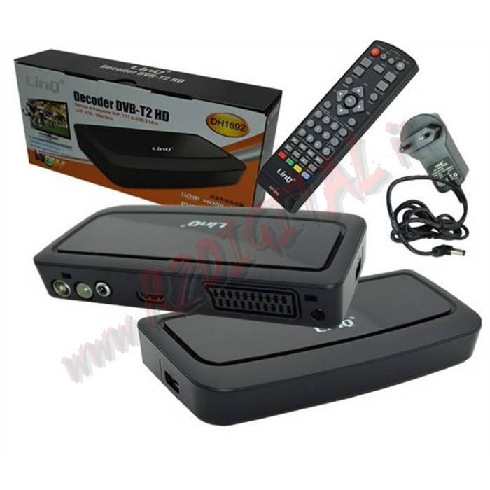 DVB-T2 HD 1692 DIGITALE TERRESTRE USB HDMI LETTORE MKV FHD VIDEO